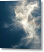 Cirrus Clouds With Nature Patterns  Metal Print
