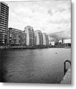 city lofts and nv buildings salford quays Manchester uk Metal Print
