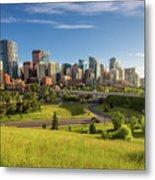City Skyline Of Calgary, Canada Metal Print