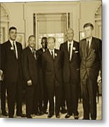Civil Rights Leaders And President Kennedy 1963 Metal Print