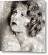 Clara Bow Vintage Hollywood Actress Metal Print