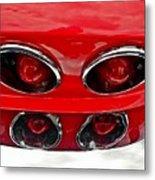 Classic Car Tail Lights Metal Print