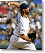 Clayton Kershaw, Los Angeles Dodgers Metal Print