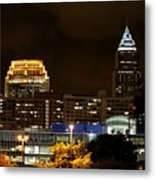 Colorful Sky Above The City On The Shore Metal Print