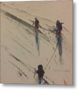 Three Climbers Metal Print