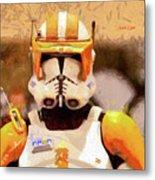 Clone Trooper Commander - Free Style Style Metal Print