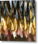 Close-up Of Luna Moth Wing Metal Print