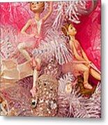 Close-up Of Toys On Christmas Tree Metal Print