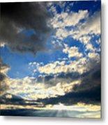 Clouded Sun Rays Metal Print