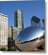 Cloudgate Reflects Metal Print