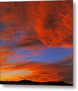 Clouds In The Sky At Sunset, Taos, Taos Metal Print