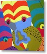 Clowns Metal Print