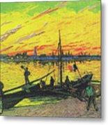 Coal Barges Metal Print