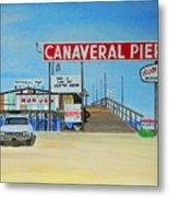 Cocoa Beach/cape Canaveral Pier Metal Print