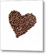 Coffee Heart Metal Print by Linde Townsend