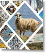 Collage Of Crete  Metal Print