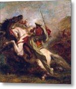 Collision Of Moorish Horsemen Metal Print