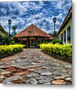 Colonial House Metal Print