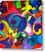 Color Shape Study Metal Print