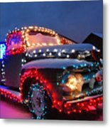 Colorado Christmas Truck Metal Print