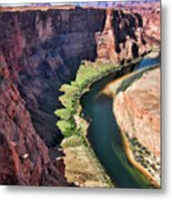 Colorado River Flows Around Horseshoe Bend  Metal Print