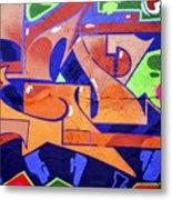 Colorful Abstract Street Art  Metal Print