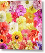 Colorful Floral Background Metal Print