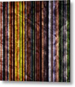 Colorful Vertical Stripes Background In Vintage Retro Style Metal Print