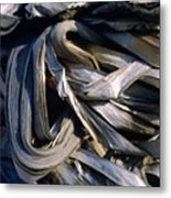 Compressed Pile Of Paper Products Metal Print