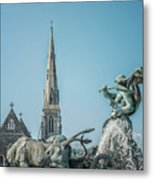 Copenhagen Gefion Fountain Metal Print