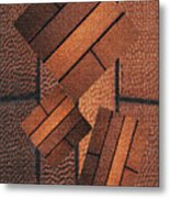 Copper Plate Abstract Metal Print