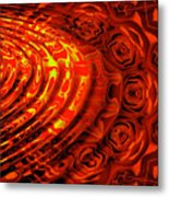 Copper Rose Metal Print