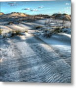 Coquina Beach, Cape Hatteras, North Carolina Metal Print