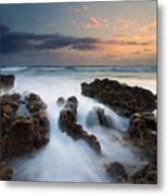 Coral Cove Dawn Metal Print