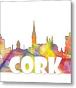 Cork Ireland Skyline Metal Print