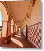 Corridor And Arches Metal Print