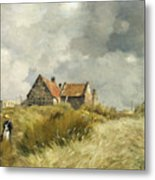 Cottage In The Dunes Metal Print