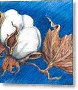 Cotton Picking Blues Metal Print