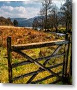 Countryside Gate Metal Print