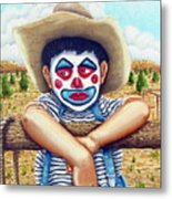 County Fair Clown Metal Print