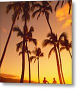 Couples Vacation Metal Print