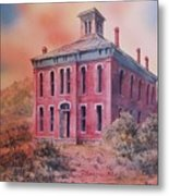 Courthouse Belmont Ghost Town Nevada Metal Print