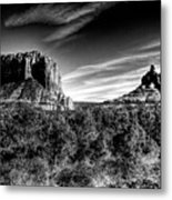 Courthouse Butte And Bell Rock Sedona Arizona Metal Print