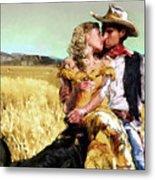 Cowboy's Romance Metal Print