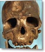 Cro-magnon Skull Metal Print