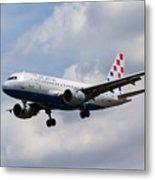 Croatia Airlines Airbus A319 Metal Print