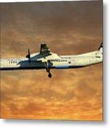 Croatia Airlines Bombardier Dash 8 Q400 Metal Print