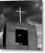 Cross And Bell Metal Print