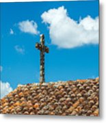 Cross And Tiled Roof Metal Print