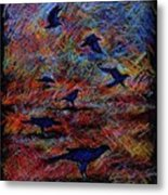 Crows Metal Print